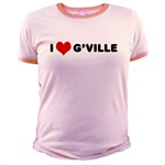 I Love G'ville Jr. Ringer T-Shirt